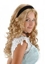 Alice In Wonderland Disney Licensed Alice Wig & Headband Quality Blonde Wavy Wig