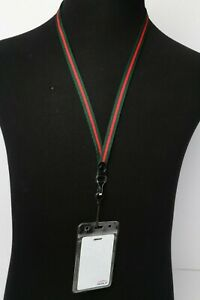 Soft Woven Striped Lanyard (Unisex) - Colors & Sizes Available