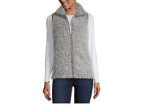 Women's Say What Plush Zip Up Vest Color: Charcoal Size: XL MSRP $49