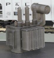 HO Scale Railroad High Voltage Oil Filled Power Transformer Flatcar Load Black