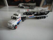 """Majorette US Truck + Trailer + Rocket """"NASA"""" in White"""