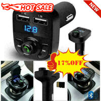 Wireless Bluetooth Handsfree Car FM Transmitter MP3 Dual USB Charger New Pl M2E9