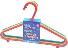 Paquet de 10 Enfant Amical Plastique Multicolore Cintre avec Crochets