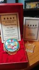 Halcyon Days Enamels 1995 Christmas Box 25th Anniversary
