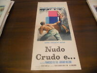 LOCANDINA ORIGINALE NUDO CRUDO E.. FRANCESCO DE FEO ADRIANO BOLZONI 1964