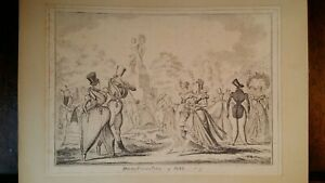 1835 SATIRICAL PRINT - GEORGE CRUIKSHANK - MONSTROSITIES OF 1822