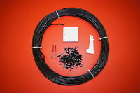 2 PAIR 100MTR External Black Telephone cable, BROADBAND / DSL Extension Kit
