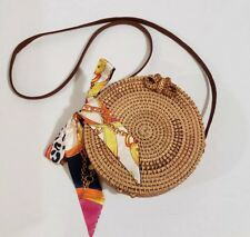 Bali Rattan Round Bag with Twilly