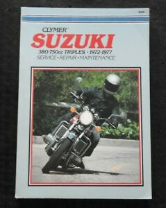 1972 1973 1974 1975 1976 1977 SUZUKI 380 550 750 TRIPL MOTORCYCLE SERVICE MANUAL