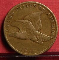 1858 Small Letters Flying Eagle Penny One Cent U.S. Coin