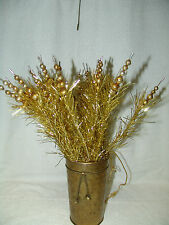 VINTAGE STALK (BUNCH) CHRISTMAS HOLIDAY FLORAL PICKS W/MERCURY GLASS BEADS