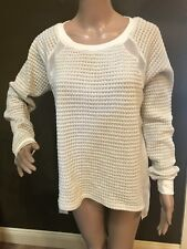 NWT by SANCTUARY White Pullover Long Sleeve Sheer SWEATER BLOUSE Size Small