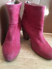Rag & Bone Canvas Newbury Red  Ankle Boots sz 37,5 US 7,5