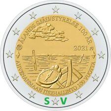 2 euro  Finlandia 2021     100° anniversario dell'autogoverno delle Isole Aland