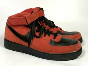 Men's shoes Nike red suede High Top Lace Up