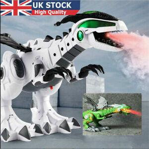 Electric Walking Dragon Toy LED Fire Breathing Water Spray Dinosaur Kids Gift UK
