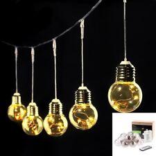 LE Warmweiß LED Birne Lichterkette, 50 LEDs Weihnachts Deko Beleuchtung, Neu22