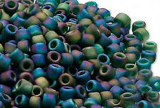 200 Frosted Rainbow Peacock Matsuno # 6 Glass Seed Beads Beading Supply