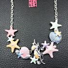 Women%27s+Enamel+Pearl+Starfish+Shell+Pendant+Betsey+Johnson+Necklace+Gift