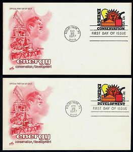 #U584 & U585 13c Energy Conserv/Develop, Art Craft FDC **ANY 4=FREE SHIPPING**