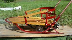 Beautiful Vintage 1950's Flexible Flyer Baby Sleigh No.28 Must see!!