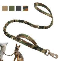 Strong Bungee Dog Leash Tactical Dog Leash Nylon Adjustable Military Dog Leads