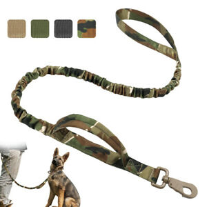 K9 Military Tactical Dog Lead Leash Training Nylon Bungee for Large Dogs Boxer