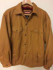Craftsman Snap Jacket Flannel Lined Canvas Tan Men's L/G