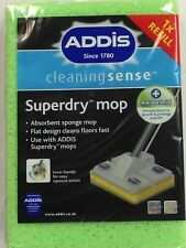 1 X Addis Superdry Anti Bacterial Flat Sponge Mop Refill Replacement