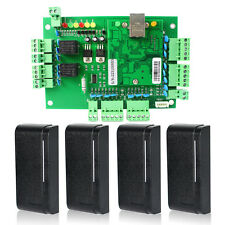 DC 9-16V TCP/IP Network Entry Access Controller panel+4X RFID card reader Hot