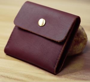 men women wallet cow Leather Card ID driver license Holder bag case purple Z546