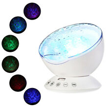 Relaxing Ocean Wave Music LED Light Projector Remote Lamp Hypnotic Music Lamp