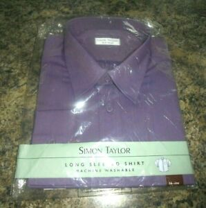 MENS SHIRT 16.5 INCH COLLAR BRAND NEW IN SEALED PACKAGING AUBERGINE