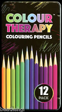 Colour Therapy - Colouring Pencils - 12 Pack in a presentation tin