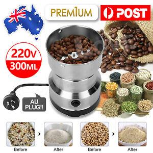 Electric Coffee Grinder Grinding Milling Spice Matte Stainless Steel Blender AU