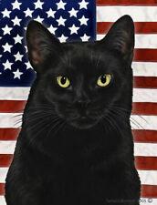 New listing Patriotic (2) Garden Flag - Black Cat 329511