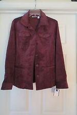 Ladies Medium soft blazer Croft &  Barrow NWT eggplant burgundy jacket fall
