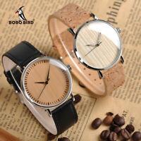 Raro Timepieces Orologi Legno Quadrante Cinturino in pelle Regali per Uomo Donna
