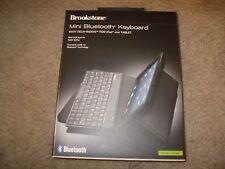 Brookstone iPad Mini Bluetooth Keyboard Tech-Weave Case Black New!!!