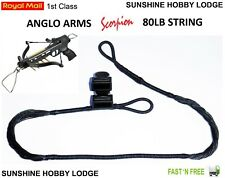 Crossbow String 80lb Pistol Xbow String & End Caps Fits Anglo Arms Scorpion Bow
