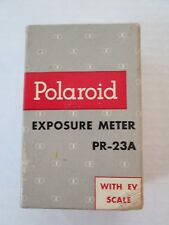VINTAGE GE Polaroid Exposure Light Meter PR-23A with EV Scale