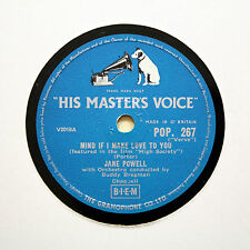 "JANE POWELL ""Mind If I Make Love To You / True Love"" (E+) HMV POP-267 [78 RPM]"