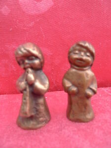 2 Belle Figurines __Bronze__ Travail Manuel ______