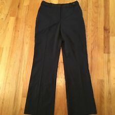 "East 5th Stretch Pants Black White Pinstripe Dress Pants Size 6 30"" Inseam New"