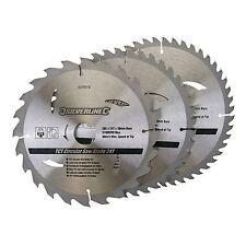 """3 X 205mm (8"""") Hojas De Sierra Circular TCT 30mm agujero 16 18 & 25 mm reducción Anillos"""