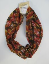bbr Yellow brown red leaf natural neutral NATURE's MOSAIC INFINITY SCARF
