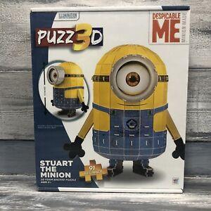 Puzz 3D Despicable Me Stuart The Minion 3D Puzzle BEGINNERS 91 Piece 8+ SEALED