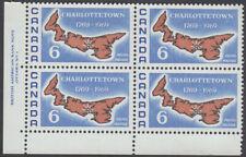 Canada - #499i Charlottetown Plate Block - Dull Paper - MNH CV.$10