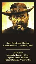 ST  DAMIEN OF MOLOKAI PRAYER CARD (wallet size)