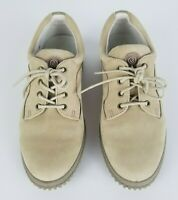 ECCO SOFT Women's Comfort Shoes Size 8.5 Tan Suede Oxford Walking lace up EUC 39